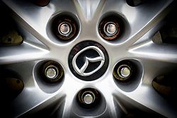 August 20, 2017 - Bydgoszcz, Poland - The wheel on a Mazda car is seen  in Bydgoszcz, Poland on 20 August, 2017. (Credit Image: © Jaap Arriens/NurPhoto via ZUMA Press)