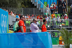 Sprehe, Paul (GER);<br /> Theodorescu, Monica (GER);<br /> Hilberath, Jonny (GER) <br /> Rio de Janeiro - Olympische Spiele 2016<br /> Grand Prix de Dressage 2. Teil<br /> © www.sportfotos-lafrentz.de / Stefan Lafrentz