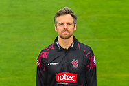 Head shot.  James Hildreth wearing the Somerset Royal London One-Day Cup kit at the media day at Somerset County Cricket Club at the Cooper Associates County Ground, Taunton, United Kingdom on 11 April 2018. Picture by Graham Hunt.