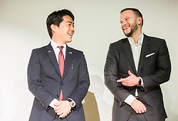 Kensuke Tsuchiya, predsednik Toyote Adria; President of Toyota Adria and Gregor Kosi, generalni direktor LIDL Slovenia // general manager of LIDL Slovenia during Slovenian Disabled Sports personality of the year 2017 event, on December 6, 2017 in Austria Trend Hotel, Ljubljana, Slovenia. Photo by Vid Ponikvar / Sportida