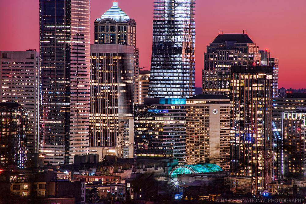 Seattle Skyscrapers @ Dusk