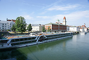 River cruise stop in Passau, Lower Bavaria, Germany, City of three rivers