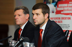 Bristol City Football Managing Director Jon Lansdown faces fans questions  during the clubs Annual Supporters Meeting held in the AMC Communications Lounge - Photo mandatory by-line: Rogan Thomson/JMP - Tel: Mobile: 07966 386802 06/12/2012 - SPORT - FOOTBALL - Ashton Gate - Bristol - Club AGM.