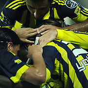 Fenerbahce's Joseph Michael YOBO (R) celebrate his goal with team mate during their Turkish soccer super league match Sivasspor between Fenerbahce at 4 Eylul Stadium in Sivas Turkey on  Sunday, 22 May 2011. Photo by TURKPIX