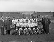 24/05/1958<br /> 05/24/1958<br /> 24 May 1958<br /> Soccer, Schoolboy International: England v Ireland at Dalymount Park, Dublin. The English team.