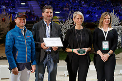 Jung Michael, Glötz Mirko, Mrs Glötz, Brandtner Nadine<br /> WBFSH Prize Giving<br /> CHI de Genève 2017<br /> © Hippo Foto - Dirk Caremans<br /> 09/12/2017