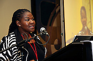 DURBAN - 28 March 2012 - .Chief Operating Officer of Transnet Port Terminals Nosipho Damasane speaks at a breakfast giving details of an upgrade to Durban's RORO and Maydon Wharf Terminals..Picture: Giordano Stolley/Allied Picture Press/APP