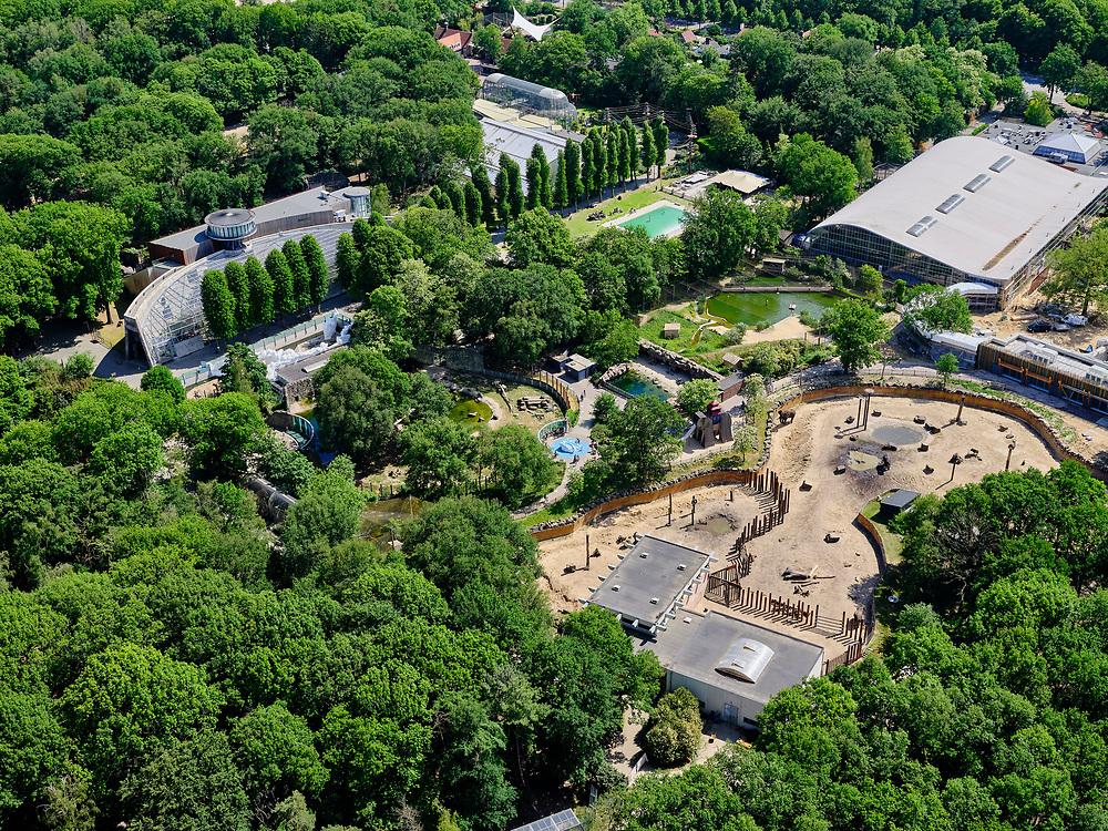 Nederland, Utrecht, Gemeente Rhenen, 27-05-2020; Ouwehands Dierenpark, direntuin<br /> Ouwehands Zoo.<br /> luchtfoto (toeslag op standaard tarieven);<br /> aerial photo (additional fee required)<br /> copyright © 2020 foto/photo Siebe Swart