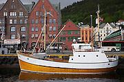 Bryggen, the Wharf, in Bergen, Norway
