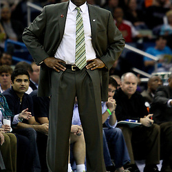 March 30, 2011; New Orleans, LA, USA; Portland Trail Blazers head coach Nate McMillan against the New Orleans Hornets during the first half at the New Orleans Arena.    Mandatory Credit: Derick E. Hingle
