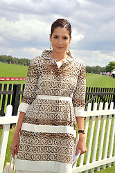 ASTRID MUNOZ at the Cartier Queen's Cup Polo Final, Guards Polo Club, Windsor Great Park, Berkshire, on 17th June 2012.