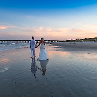 Jacquie Lynn and Nick recreate the Love of their wedding night. Myrtle Beach State Park at Sunset
