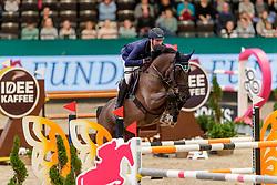 DEUSSER Daniel (GER), Mr. Jones<br /> Leipzig - Partner Pferd 2020<br /> FUNDIS Youngster Tour<br /> 2. Qualifikation für 7jährige Pferde <br /> Springprfg. nach Fehlern und Zeit, int.<br /> Höhe: 1.35 m<br /> 18. Januar 2020<br /> © www.sportfotos-lafrentz.de/Stefan Lafrentz
