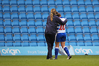 Football - 2018 / 2019 SSE Women's FA Cup - Semi Final: Reading FC Women vs. West Ham United Women<br /> <br /> Reading's Lauren Bruton is consoled after losing the penalty shoot out at Adams Park <br /> <br /> COLORSPORT/SHAUN BOGGUST