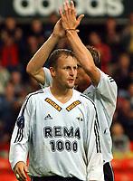 Fotball, 23. juli 2003, NM, If-cup, Rosenborg - Lyn 5-0, Frode Johnsen og Harald Martin Bratbakk, RBK<br /> Foto: Carl-Eri k Eriksson, Digitalsport