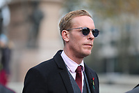 Laurence Fox leader of the Reclaim Party, pays his respects on Remembrance Sunday at the Royal artillery war memorial at Hyde Park Corner by Roger Alarcon