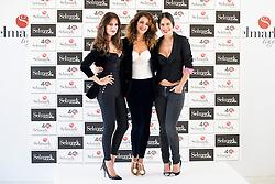 15.10.2015, Circulo de Bellas Artes, Madrid, ESP, Senmark Jubiläums Fashion Show, im Bild Mar Saura, Monica Estarreado and Mireia Canalda // during the Senmark 40th. Aniversary Fashion Show at the Circulo de Bellas Artes in Madrid, Spain on 2015/10/15. EXPA Pictures © 2015, PhotoCredit: EXPA/ Alterphotos/ BorjaB.hojas<br /> <br /> *****ATTENTION - OUT of ESP, SUI*****