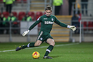 Robert Green (Leeds United) clears the ball during the EFL Sky Bet Championship match between Rotherham United and Leeds United at the New York Stadium, Rotherham, England on 26 November 2016. Photo by Mark P Doherty.