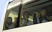 Stale Stensaas, Vidar Riseth of FC Rosenborg after arrival on Bucuresti airport<br /> 09.08.2005<br /> Photo: Aleksandar Djorovic