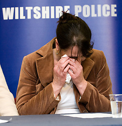 © under license to London News Pictures.  21/03/2011. Kevin Reap, Elaine O'Callghan, the Mother of missing Sian O'Callaghan at a press conference at Swindon police station today following the disaperance of the 22-year old on friday. Photo credit should read: LNP