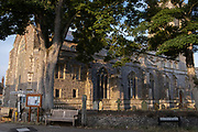 The exterior of the Church of St. Mary the Virgin, a building funded from the wealth of the 14th century local weaving industry, on 10th August 2020, in Worstead, Norfolk, England.