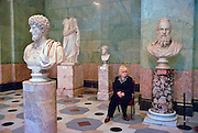 Saint Petersburg, Russia, June 2002..Ancient exhibits in the Hermitage, former home of the Tsars, and one of the world's great museums..