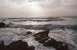 Sunset on the coast of England,