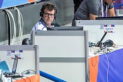 03-03-2017  SRB: European Athletics Championships indoor day 1, Belgrade<br /> In een lege Kombank Arena wordt de eerste dag van het Europees Kampioenschap gehouden / Andy Houtkamp, radio NOS