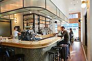 Interior of a cafe in Rothschild Boulevard, Tel Aviv, Israel