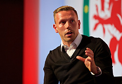NEWPORT, WALES - Saturday, May 21, 2016: Craig Bellamy during the Football Association of Wales' National Coaches Conference 2016 at the Celtic Manor Resort. (Pic by David Rawcliffe/Propaganda)