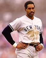 MILWAUKEE - 1988:  Dave Winfield of the New York Yankees looks on during an MLB game against the Milwaukee Brewers at County Stadium in Milwaukee, Wisconsin during the 1988 season. (Photo by Ron Vesely) Subject:   Dave Winfield