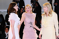 Laura Mulleavy, Kirsten Dunst and Kate Mulleavy attending the Woodshock Premiere during the 74th Venice International Film Festival (Mostra di Venezia) at the Lido, Venice, Italy on September 04, 2017. Photo by Aurore Marechal/ABACAPRESS.COM