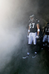Philadelphia Eagles tight end Brent Celek #87 enters the field before the NFL game between the Washington Redskins and the Philadelphia Eagles on November 29th 2009. The Eagles won 27-24 at Lincoln Financial Field in Philadelphia, Pennsylvania. (Photo By Brian Garfinkel)
