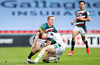 Rugby Union - 2020 / 2021 ER Challenge Cup - Quarter-Final - Leicester Tigers  vs Newcastle Falcons - Welford Road<br /> <br /> Tom Penny of Newcastle Falcons is tackled by Harry Potter of Leicester Tigers<br /> <br /> Credit : COLORSPORT/BRUCE WHITE