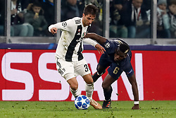 November 8, 2018 - Turin, Italy - Rodrigo Bentancur (L) of Juventus and Paul Pogba of Manchester United vie for the ball during the Group H match of the UEFA Champions League between Juventus FC and Manchester United FC on November 7, 2018 at Juventus Stadium in Turin, Italy. (Credit Image: © Mike Kireev/NurPhoto via ZUMA Press)
