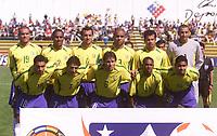 Fotball<br /> OL-kvalifisering for U 23-landslag i Sør Amerika<br /> 23. januar 2004<br /> Chile<br /> Foto: Digitalsport<br /> Norway Only<br /> Lagbilde Brasil