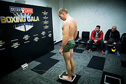 Aljaz Venko of Slovenia during Official weighting ceremony one day before Dejan Zavec Boxing Gala event in Ljubljana, on March 10, 2017 in Grand Hotel Union, Ljubljana, Slovenia. Photo by Vid Ponikvar / Sportida