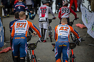 #921 (HARMSEN Joris) NED and #42 (SCHIPPERS Jay) NED at Round 2 of the 2020 UCI BMX Supercross World Cup in Shepparton, Australia.