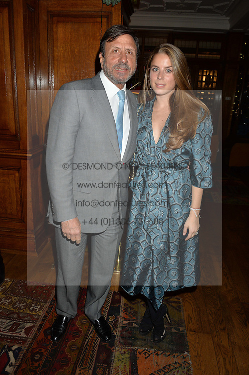 LONDON, ENGLAND 1 DECEMBER 2016: Sir Rocco Forte, Lydia Forte Left to right, at the Smythson & Brown's Hotel Christmas Party held at Brown's Hotel, Albemarle St, Mayfair, London, England. 1 December 2016.