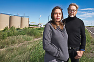 The Glovers at a Primexx fracking site in Verhalen, Texas in the Permian Basin.