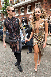 © Licensed to London News Pictures. 17/09/2016.  LEWI MORGAN and ELLA EYRE arrive for the JULIEN MACDONALD Spring/Summer 2017 show. Models, buyers, celebrities and the stylish descend upon London Fashion Week for the Spring/Summer 2017 clothes collection shows. London, UK. Photo credit: Ray Tang/LNP