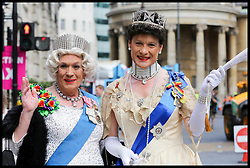July 8, 2017 - London, London, United Kingdom - Image ©Licensed to i-Images Picture Agency. 08/07/2017. London, United Kingdom. Pride London Parade..Participants and members of public arrives for the Pride London Parade. Over 26,000 people will take part in one of the world's biggest LGBT + celebrations. Picture by Dinendra Haria / i-Images (Credit Image: © Dinendra Haria/i-Images via ZUMA Press)