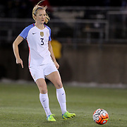 Sam Mewis, USA, in action during the USA Vs Colombia, Women's International friendly football match at the Pratt & Whitney Stadium, East Hartford, Connecticut, USA. 6th April 2016. Photo Tim Clayton