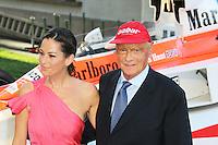 Niki Lauda, Rush - World film premiere, Leicester Square gardens, London UK, 02 September 2013, (Photo by Richard Goldschmidt)
