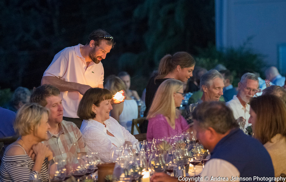 """""""Around the Fire:  an evening with Cristom Vineyards & Ox"""", for pre-IPNC 2016 dinner, Eola-Amity, Willamette Valley, Oregon"""