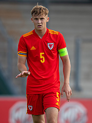 NEWPORT, WALES - Friday, September 3, 2021: Wales' captain Zac Williams during an International Friendly Challenge match between Wales Under-18's and England Under-18's at Spytty Park. (Pic by David Rawcliffe/Propaganda)
