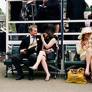 Spectators at the parade rings during the Royal Ascot race meeting. Royal Ascot. England, UK. June 16-20th, 2009. Photo Tim Clayton