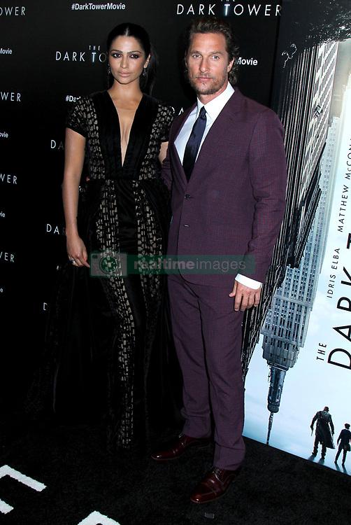 'The Dark Tower' New York Premiere at the Museum of Modern Art. 31 Jul 2017 Pictured: Matthew McConaughey & Camila Alves. Photo credit: ©Steven Bergman/AFF-USA.com / MEGA TheMegaAgency.com +1 888 505 6342