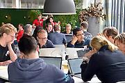 Nederland, the Netherlands, Nijmegen, 21-5-2016Op verschillende  plocaties in het land werd een Hackaton gehoude. Patiënten, artsen, ondernemers en programmeurs werken in een weekend een idee voor zorginnovatie uit.Foto: Flip Franssen