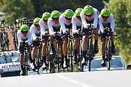 Team Dimension Data during the Tour de France 2018, Stage 3, Team Time Trial, Cholet-Cholet (35 km) on July 9th, 2018 - Photo Luca Bettini/ BettiniPhoto / ProSportsImages / DPPI